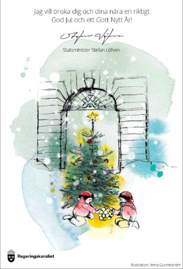 Statsministerns Julkort